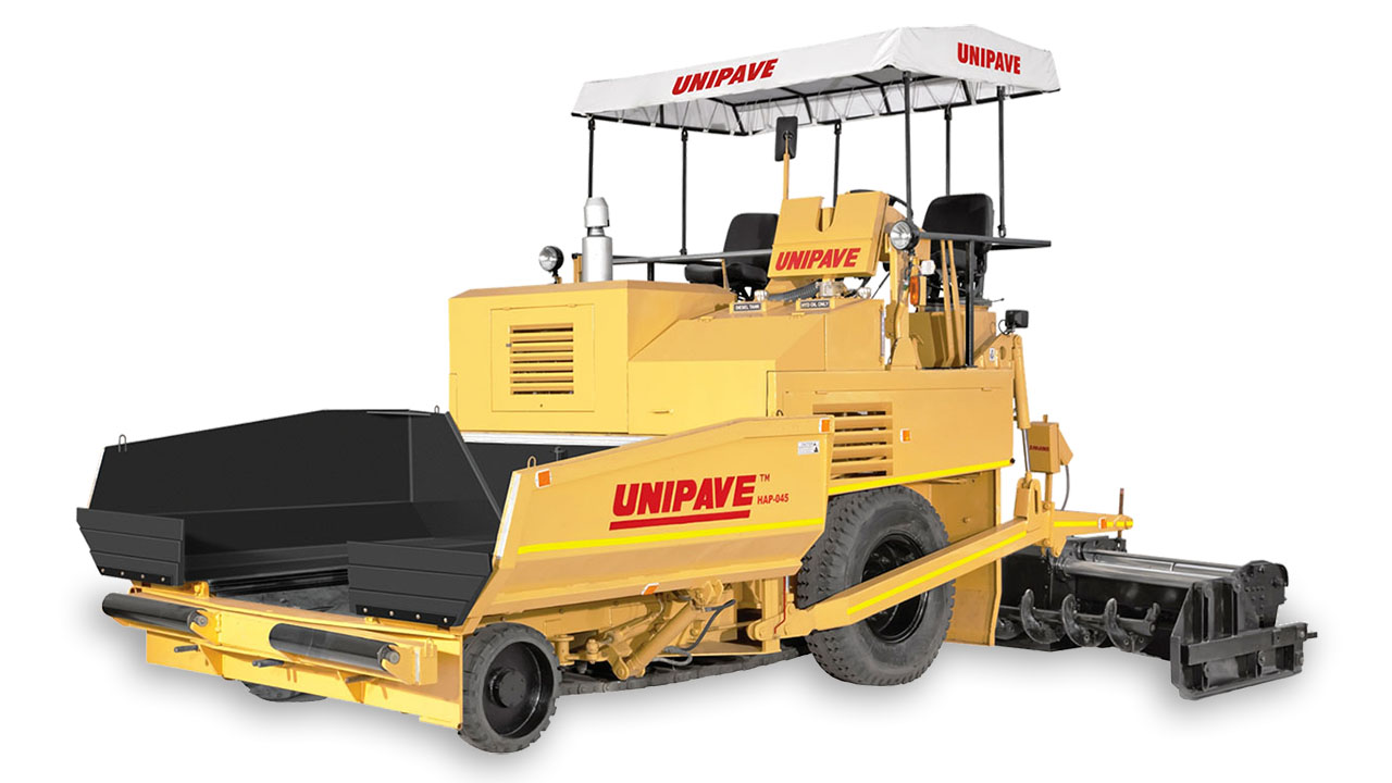 Hap 045 With Hydraulic Conveyor Drive Unipave Engineering Products It Was An Hydraulically Controlled Rear Wheel Transmission